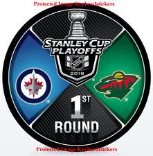 2018 Stanley Cup Playoffs 1st Round Dueling Puck Minnesota Wild vs Winnipeg Jets