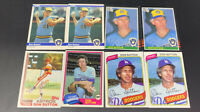 1980-1985 Topps-Donruss-Fleer lot of 8 DON SUTTON cards! BREWERS HOF! NM-MT