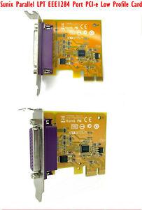 Sunix Parallel LPT EEE1284 PCI-e Low Profile Card PAR6408A 1PCB PAR6408AXX100