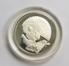 2 Oz Sterling Silver Round Ruffed Grouse 1971  number 9