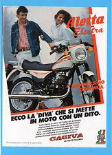 MOTITALIA984-PUBBLICITA'/ADVERTISING-1984- CAGIVA 125 ALETTA ELECTRA