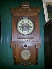 Unusual free swinger with matching dial and pendulum German clock