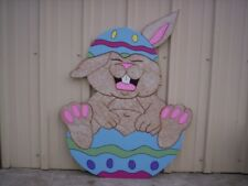 Bunny Laughing In Egg * Easter Yard Art Decoration