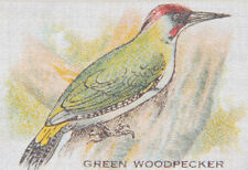 Vintage Bdv tobacco cigarette silk - Bird - Green Woodpecker