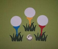 6 Pieces Golf Ball Set Premade PAPER Die Cuts / Scrapbook & Card Making