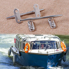 """4"""" 2pcs Stainless Steel Dock Deck Line Rope Boat Yacht Marine Cleat Tie Hardware"""