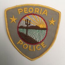 Peoria Police, Arizona old cheesecloth patch