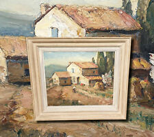 Bauernhaus Provence. Provenzalische Landschaft Ölgemälde LOUIS OMER ASTRAN *1884