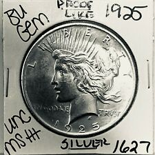 1925 P BU GEM PEACE SILVER DOLLAR UNC MS+ GENUINE U.S. MINT RARE COIN 1627