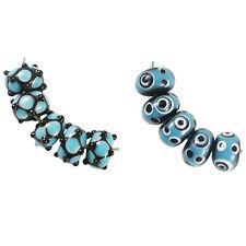 Trez Handmade Glass Lampwork Beads (Set of 10; Small Hole 1.5m) 406/411