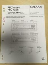 Kenwood Service Manual for the KDC 1023 122 S CD Receiver Car Radio       mp