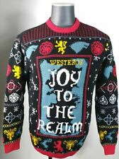 Game of Thrones Ugly Christmas Sweater L Mens Joy to the Realm HBO NEW