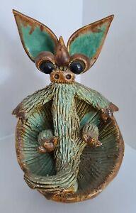Yare Designs Dragon Studio Pottery - Dragon sitting in a toadstool / Mushroom