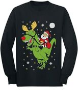 T-Rex Santa Ride Funny Ugly Christmas Toddler/Kids Long sleeve T-Shirt Gift