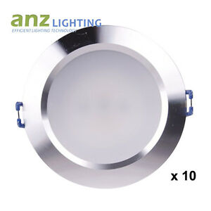 10 kits x 15W Dimmable Round SilverFrame LED Downlight Driver &Plug SAA Approval