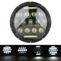"7"" Round LED Headlight Hi-Lo Beam DRL Projector Lamp For Harley Jeep Wrangler JK"