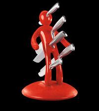 XL Voodoo Vudú Knives Supreme Messerblock +5 teiliges Messerset Messerhalter rot