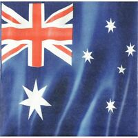 AUSTRALIAN FLAG LUNCH NAPKINS ANZAC AUSTRALIA DAY PARTY TABLE DECORATION PKT 16
