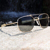 HUMVEE Pilot Sunglasses - Gold 57mm