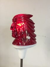 'Big Chief' Indian Head RED Retro Bicycle LED Light NEW!