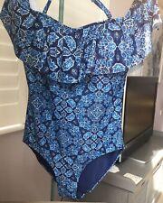 Costume Da Bagno Costume Da Bagno M/&S 22 Blu Hello Estate Snellente Pancia Controllo Nuovo con Etichetta