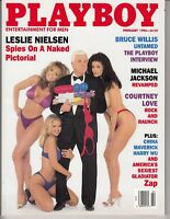 PLAYBOY - February 1996 - Zap Gladiator - Leslie Nielsen - Bruce Willis /q8