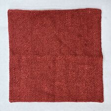 "NEW Pottery Barn Faye Linen Textured 20"" x 20"" Pillow Cover~Sumac Red/Orange"