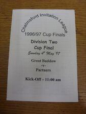 04/05/1997 Chelmsford Invitation League Division 2 Cup Final: Great Baddow v Par
