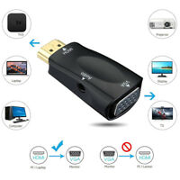 1Set 1080P HDMI Male To VGA Female Adapter Video Converter With Audio Output ^S