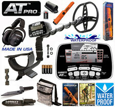 Garrett AT PRO Metal Detector Bundle With Propointer AT, Edge Digger, HP, & MORE
