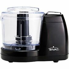 Rival Black Mini Chopper 1 1/2 Cup Capacity Stainless Steel Blade Compact NEW