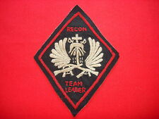 Vietnam War 5th SFGp MACV-SOG RT ILLINOIS RECON TEAM LEADER CCC Hand Made Patch