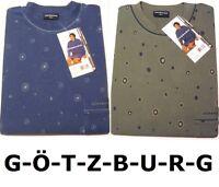 GÖTZBURG Herren-Nachthemd Gr. 48/S - langarm - Single Jersey 100% Baumwolle