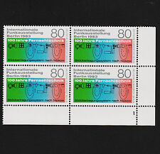 1983 germany Berlin Sc#9N487 Mi#702 Corner Margin Block Mint Never Hinged