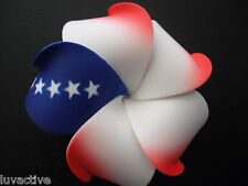 "3"" Hawaiian Plumeria Foam Flower Hair CLIP Red White Blue Wedding Bridal Luau"