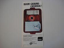 advertising Pubblicità 1969 CAMICIA CASSERA DINAMIC