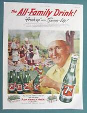 original 7 Up 1952 Seven-Up Ad ALL FAMILY DRINK - SUMMER COOKOUT TIME