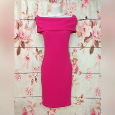 Cocktail Dress Size Medium Hot Pink Off Shoulder Bodycon Stretch