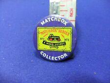 vtg tin badge matchbox collector moko lesney club advert advertising 1970s toys