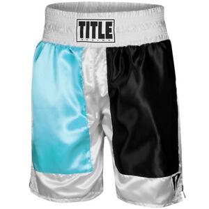 "Title Boxing Panel Pro 4"" Waistband Satin Boxing Trunks"