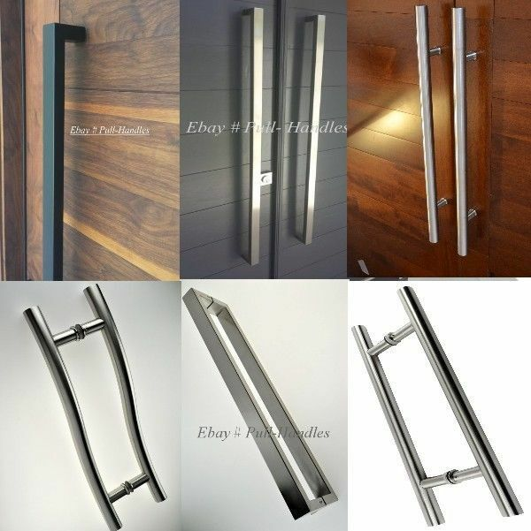 BACK TO BACK ROUND ENTRY DOOR PULL HANDLES IN VARIOUS SIZES SOLD AS A PAIR