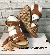 Ladies HUSH PUPPIES Sandal Shoe Wedge Heel Quality Leather Size UK 5 EU38
