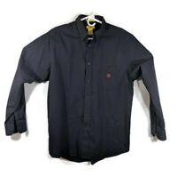 Duck Head Mens Long Sleeve L/S Classic Oxford Button Down Shirt Blue Size Medium