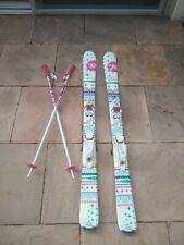 Kids Rossignol Terrain Skis 128 cm with w/ Rossignol bindings