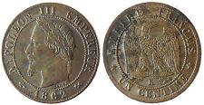 NAPOLEON  III  ,  2  CENTIMES  TÊTE  LAURÉE ,  1862  K  BORDEAUX  ,  SUPERBE