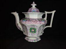 "Antique Staffordshire ""Zamara"" Pattern Lidded Teapot, 1845-1858, Francis Morley"