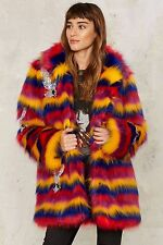 Nasty Gal Collection Rare Bird Faux Fur Coat medium new with tags