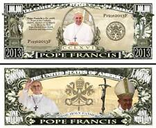 Pope Francis Million Dollar Bill Collectible Fake Play Funny Money Novelty Note