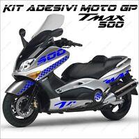 ADESIVI SPORT CARENA GRAFICA COMPATIBILE YAMAHA TMAX T MAX 500 01/07 BLU MOTO