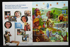United Nations FDC First Day Cover 21c Block Ersttagsbrief  (L-1964+